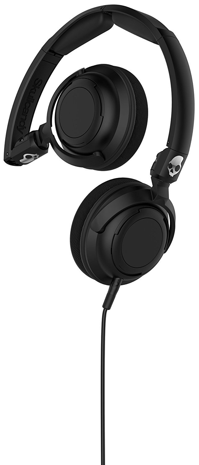 Skullcandy Lowrider Headphones with Rotating Earcups, Supreme Sound Tuning, All Day Comfort, and Built-In Mic; Perfect for Active Lifestyles and Easy Listening, Black by Skullcandy