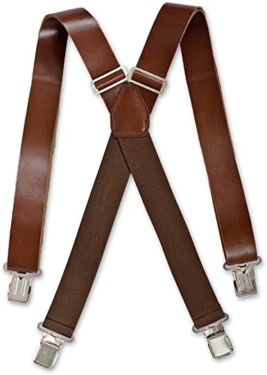 Men Suspenders Adjustable Y Shape Clip-On Trousers Braces 35mm Wide Belt 6 Clips