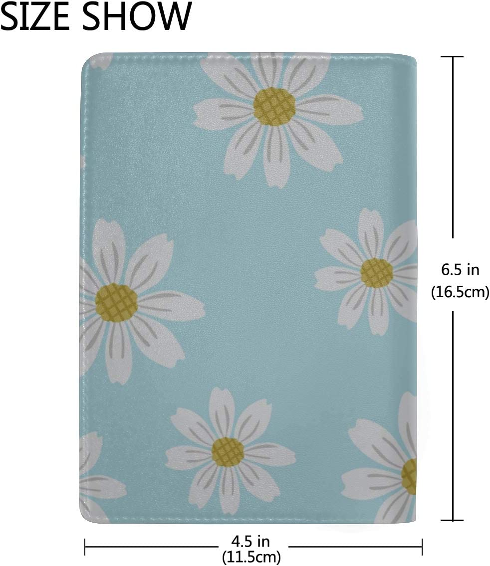Travel Passport Case Beautiful Colorful Flowers Stylish Pu Leather Travel Accessories Passport Case For Men For Women Men