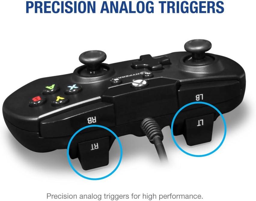 Black Mando para Xbox One Negro X91 Wired Controller for Xbox One//Windows 10 - Hyperkin