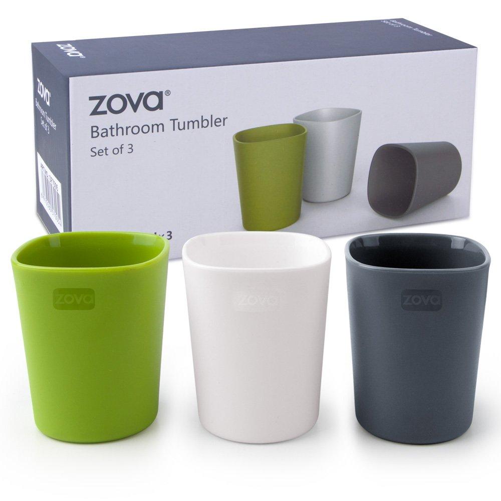 zova Bathroom Tumbler 340ml, 3 pieces by MR.SIGA
