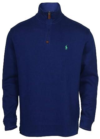 acb51aa68 Polo Ralph Lauren Men s Half Zip French Rib Cotton Sweater (FallRoyal