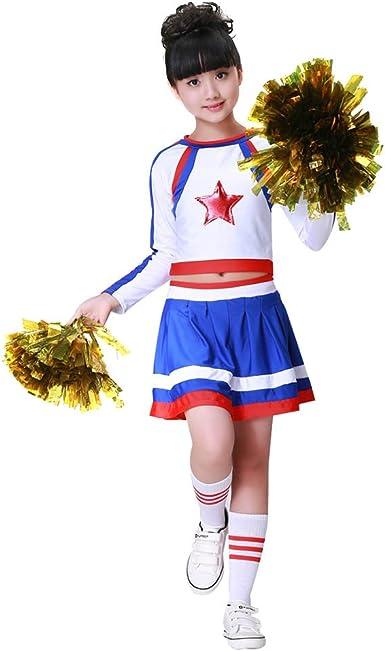 Ladies Girls Cheerleader Costume Sports School Uniform Fancy Dress Or Socks