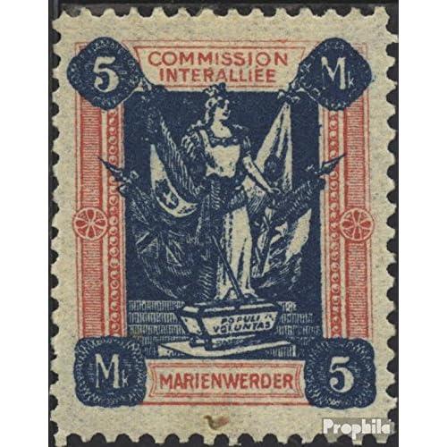 marie werder 14a b testés 1920 Femme avec Flags (Timbres pour les collectionneurs)