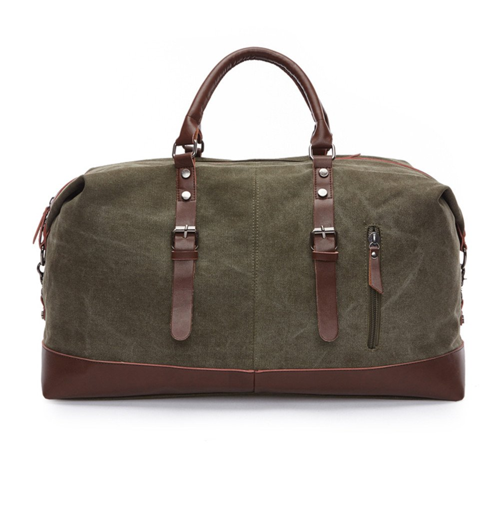 Sechunk Canvas Leather Big Outdoor Duffle Bag