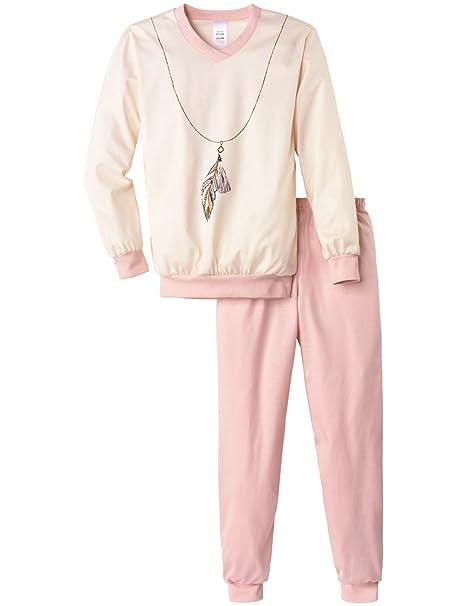 Calida Pyjama Bündchen Feather Queen, Conjuntos de Pijama Niña, Rosa, 8 Años (