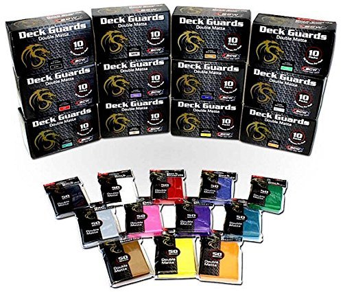 61XZAtzBHwL - 1000 Double Matte Deck Guard Sleeves for Collectable Gaming Cards like Magic The Gathering MTG, Pokemon & More.