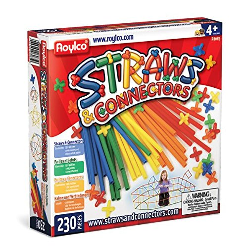 (Roylco Straws and Connectors Building Kit - Pack of 230 - Assorted)