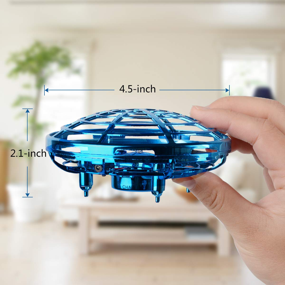 Oucles Mini Drones for Kids and Adults Ball with 360° Rotating and Shinning LED Lights, Flying Toy for Boys Girls and Kids Gifts by Oucles (Image #2)