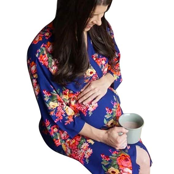 SamMoSon Blusa Sujetadores Y De Lactancia para Ropa Dormir Camisones Camisetas Trajes Baño CamisóN De Maternidad para Mujeres Ropa De Dormir Ropa De Dormir ...