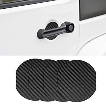 MLING 4 Pcs Magnetic Car Door Handle Insert Cover Anti Scratches Guard Paint Protector Compatible for Mokka