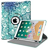 Fintie iPad Pro 10.5 Case Built-in Apple Pencil Holder - 360 Degree Rotating Stand Protective Cover Auto Sleep/Wake Feature Apple iPad Pro 10.5 inch 2017 Release, Emerald Illusions