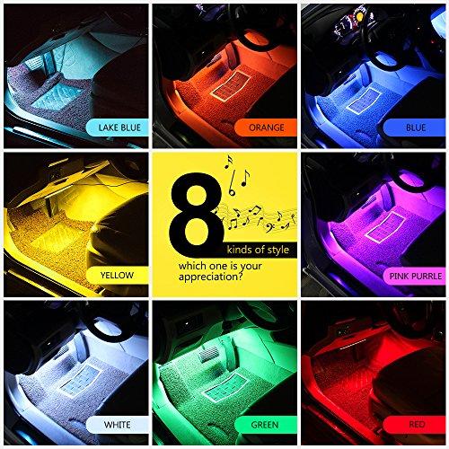 wsiiroon-Car-LED-Lights-4pcs-48-LED-Interior-Lights-Multi-Color-Music-Car-Strip-Light-Under-Dash-Lighting-Kit-with-Sound-Active-Function