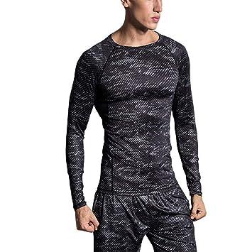 Camiseta de compresion Equipo de entrenamiento deportivo para hombres Equipo superior Muscle Slim , Camiseta de entrenamiento de entrenamiento para hombre ...