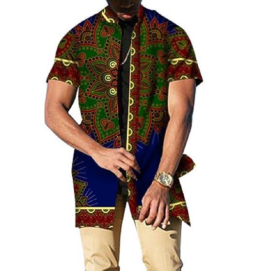 be31c469ede Coolred-Men Tops Batik Plus Size Mulit Color African Dashiki Fashion T  Shirts Five S