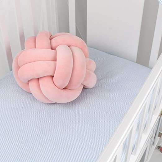 Sqiuxia - Almohada de Terciopelo con Nudo de Bola Suave, cojín Decorativo para decoración del hogar, sofá o Dormitorio (2 tamaños, 11 Colores a ...