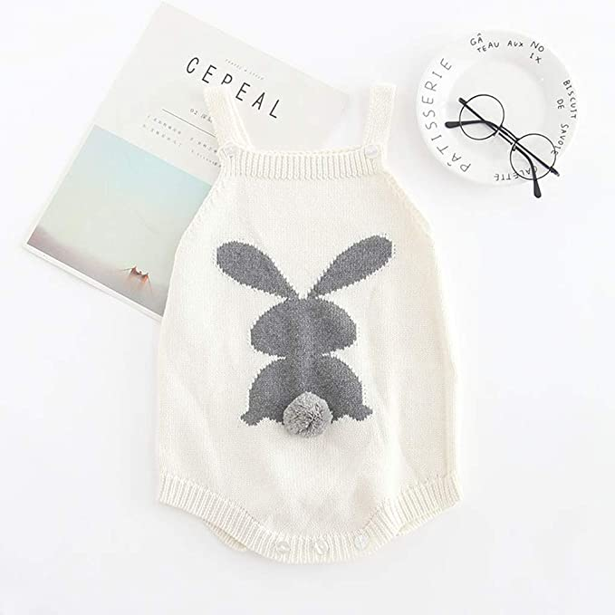 Amazon.com: Clearance sale Baby Girl Knitted Rabbit Overalls Embroidered Cotton Romper Bodysuit Clothes (6-12 M, White c): wkdg*agde (Save 35% Clearance on ...