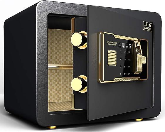 Y-BXX Safe Safe Fingerprint Fireproof, Cerradura de combinación de electrónica Digital, Caja Fuerte biométrica con Sistema de Bloqueo de Huellas Dactilares, Caja Fuerte para Pared: Amazon.es: Hogar