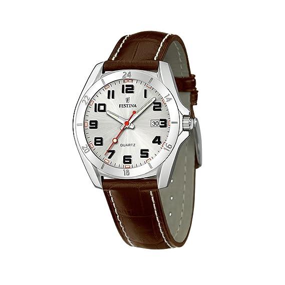 FESTINA F16271/2 - Reloj de caballero de cuarzo, correa de piel color marrón: Amazon.es: Relojes