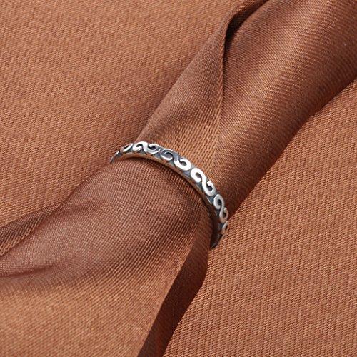 Infinite U Infini Symbole 925 Argent Band Bague Réglable Taille 49 à 55 pour Femmes/Filles