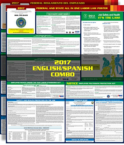 2017 Texas State and Federal All-in-one Labor Law Poster - English / Spanish Combo