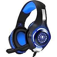 BlueFire Cascos Gaming PS4, Auriculares Gaming con Micrófono Headset Mac Estéreo Juego Gaming Jack 3,5mm LED Bajo Ruido…
