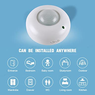 Enjoygous 360° Motion Sensor Switch, Human Body Infrared Detector Motion Switch Wired Ceiling Occupancy, PIR Induction Sensor Light Switch for Corridor ...