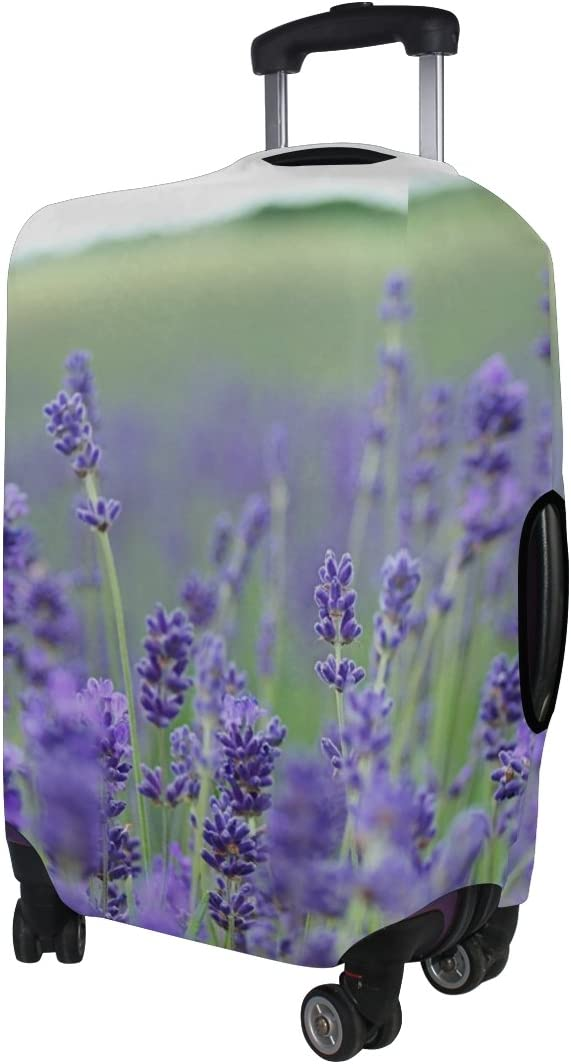 LEISISI Lavender Flower Luggage Cover Elastic Protector Fits XL 29-32 in Suitcase