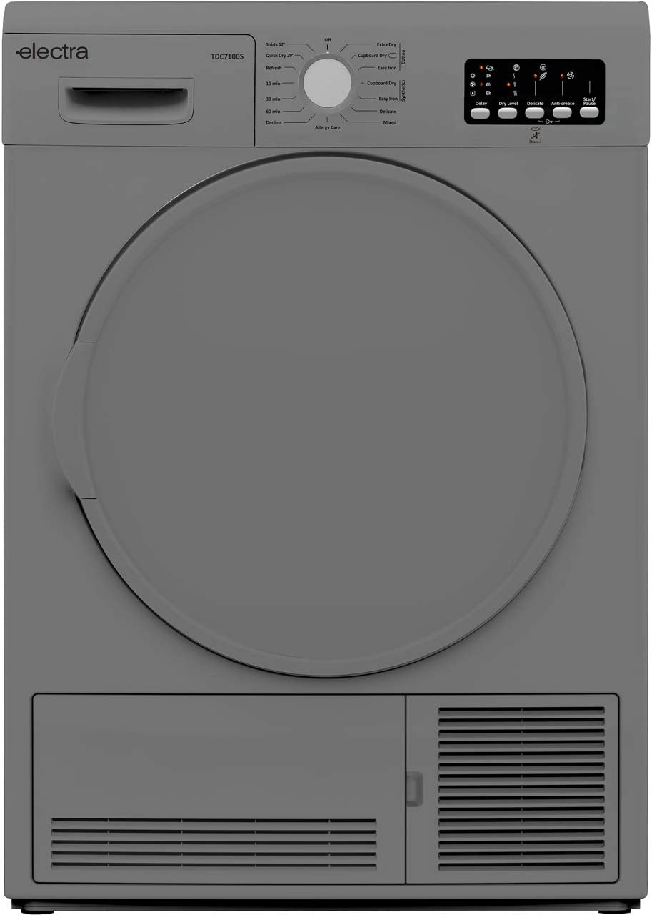Silver Electra TDC7100S 7Kg Condenser Tumble Dryer