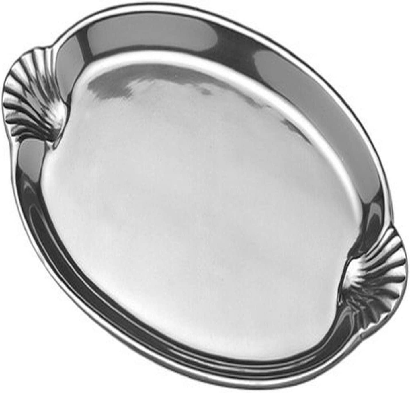 Wilton Armetale Sea Life Scallop Handled Oval Serving Tray, 10.75-Inch-by 16.5-Inch - 356234 61XZHVtpVAL