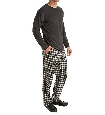 UGG Mens Steiner Sleepwear Set Plaid (Black/Black Bear Heather) (Small)