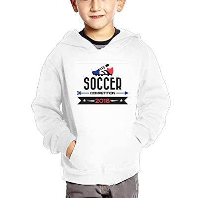 2018 Soccer Competition France Baby Boy Children's Soft Pullover Hoodies Cute Hooded Sweatshirts with Pockets