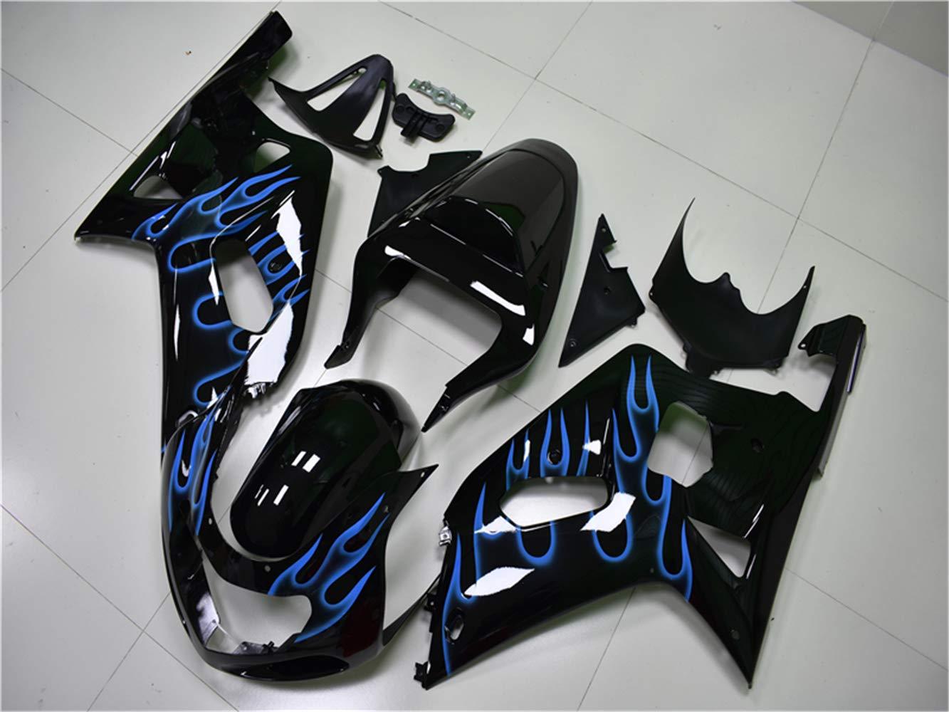 New Glossy Black Fairing Fit for SUZUKI 2001 2002 2003 GSXR 600 750 Injection Mold ABS Plastics Aftermarket Bodywork Bodyframe GSX-R 600//750 01 02 03