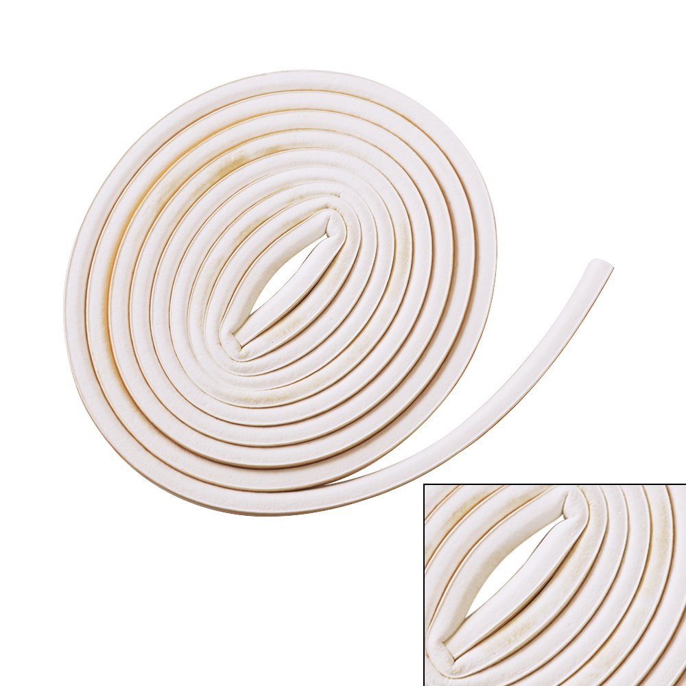 SHiZAK 2pcs 5M(9*6mm)D-Type White Foam Draught Self Adhesive Window Door Excluder Weatherproof Soundproof Rubber Seal Tape for Cracks and Gaps