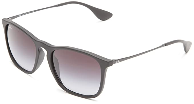 Ray-Ban CHRIS - RUBBER BLACK Frame LIGHT GREY GRADIENT DARK GREY Lenses 54mm Non