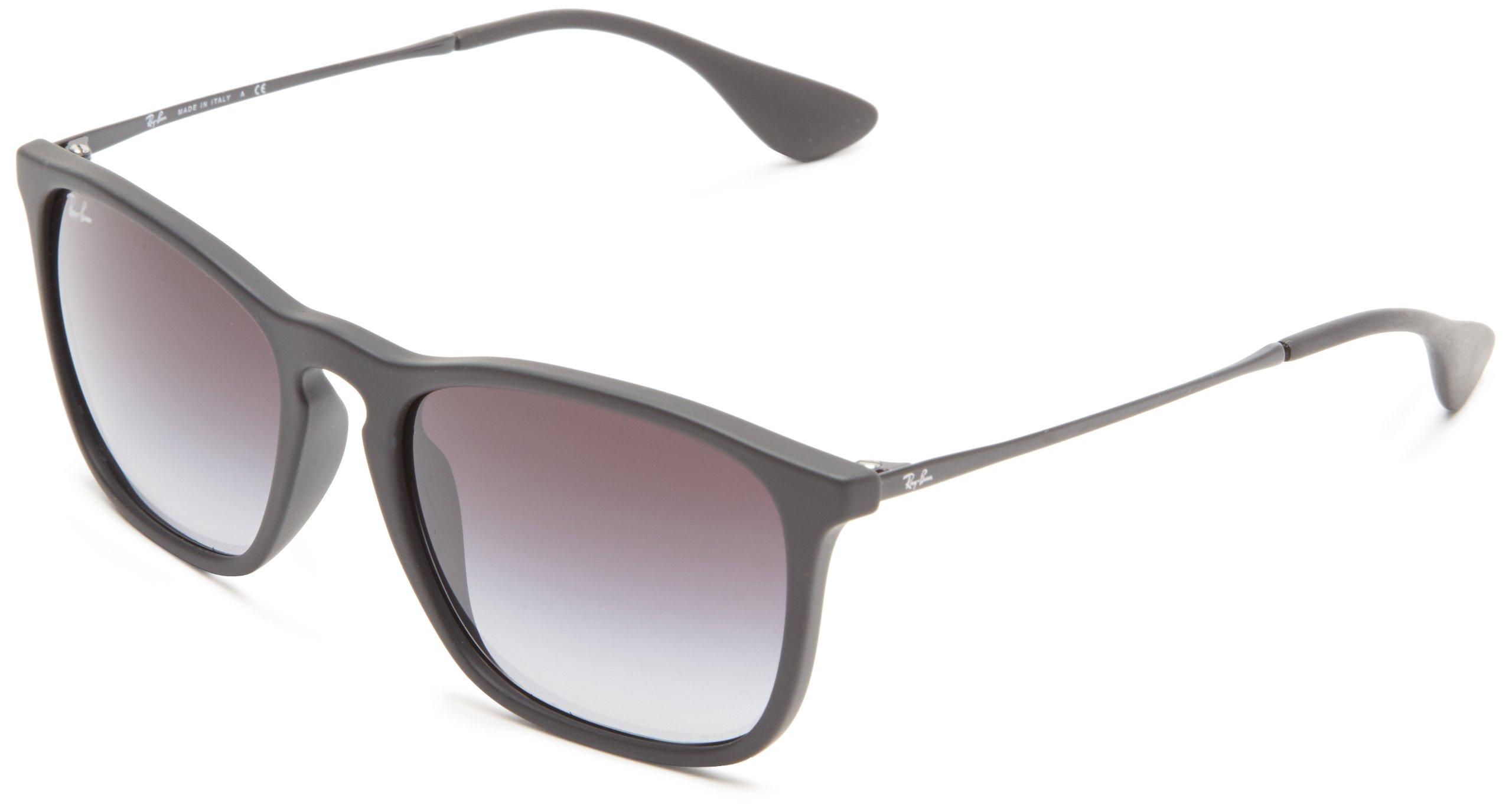 Ray-Ban Unisex RB4187 622/8G Chris Sunglasses Rubber Black