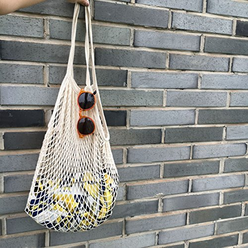 [YingKu Cotton Net Shopping Tote Ecology Market String Bag Organizer, New Fashion for Street Snap] (Purses Net)