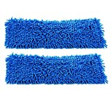 2-pack of 18'' Inch Premium Chenille Microfiber Wet Mop Pads for Professional Commercial Microfiber Mops