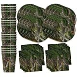 Hunter Tree Camo Party Supplies Set Plates Napkins Cups Tableware Kit for 16