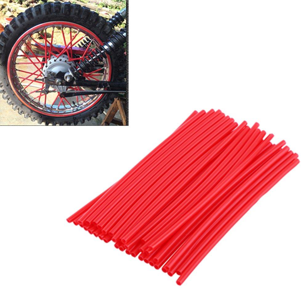 pour manteaux tuyaux rouge Lot de 36 protections pour rayons de motocross pour roues de moto d/écoratifs garnitures