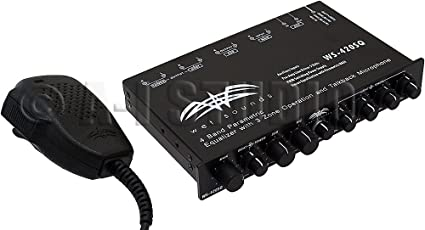 amazon com wet sounds ws 420 sq 4 band parametric equalizer wet sounds ws 420 sq 4 band parametric equalizer 3 zone operation