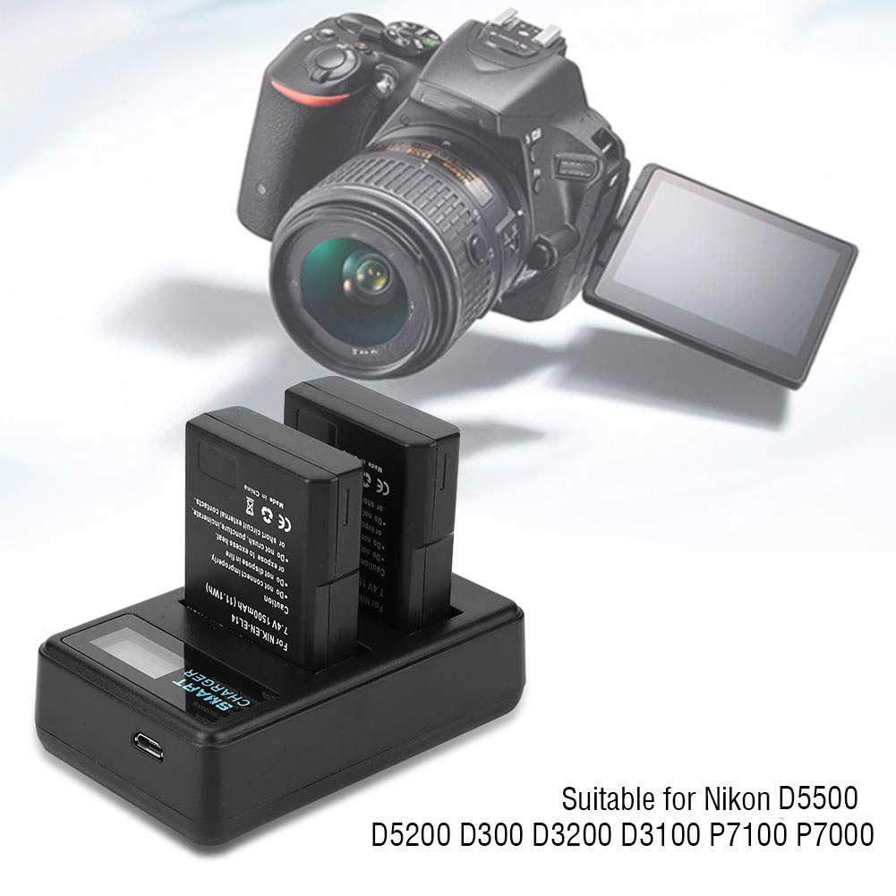 EBTOOLS EN-EL14 Cargador de Batería, Cámara con Doble Ranura USB ...