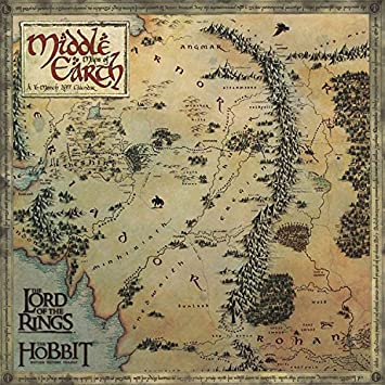 lord of the rings middle earth maps 2017 mini