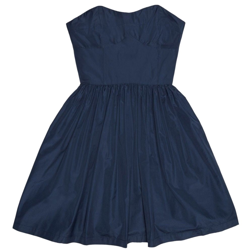 Jack Wills Delaney Strapless Boned Bodice Prom Dress, Navy, UK Size 10: Amazon.co.uk: Clothing