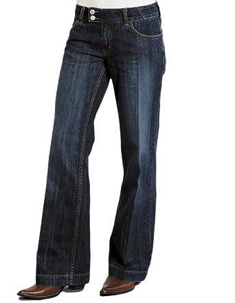 Stetson Women's 214 Fit City Dark Indigo Trouser Jeans - 11-054 ...