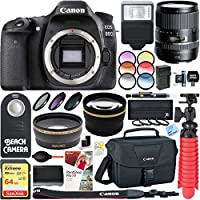 Canon EOS 80D 24.2 MP Digital SLR Camera + Tamron 16-300mm Di II VC PZD Macro Lens Accessory Bundle