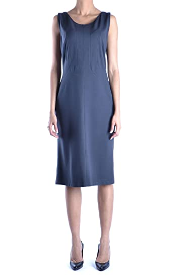 ec4732501d2100 Armani Collezioni Women's Mcbi024108o Black Viscose Dress: Amazon.co.uk:  Clothing