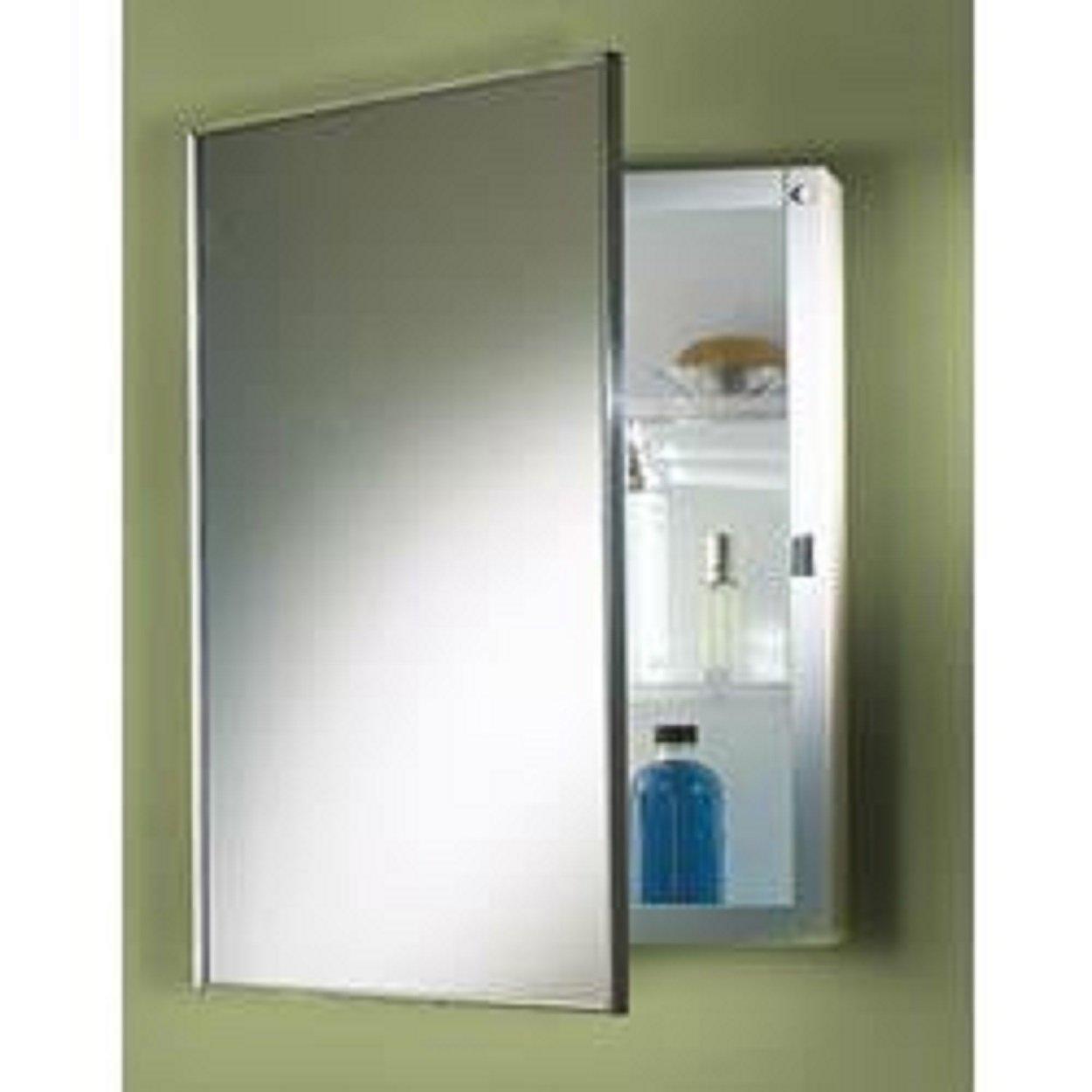 Aluminium Bathroom Cabinets Amazoncom Jensen 401adj Basic Styleline Recessed Molded Medicine