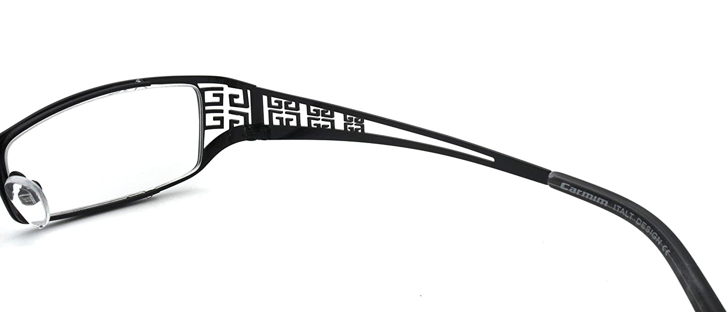Wine Rectangle Lens Metal Eyeglasses Hollow Chinese Carving Temple CMG7001