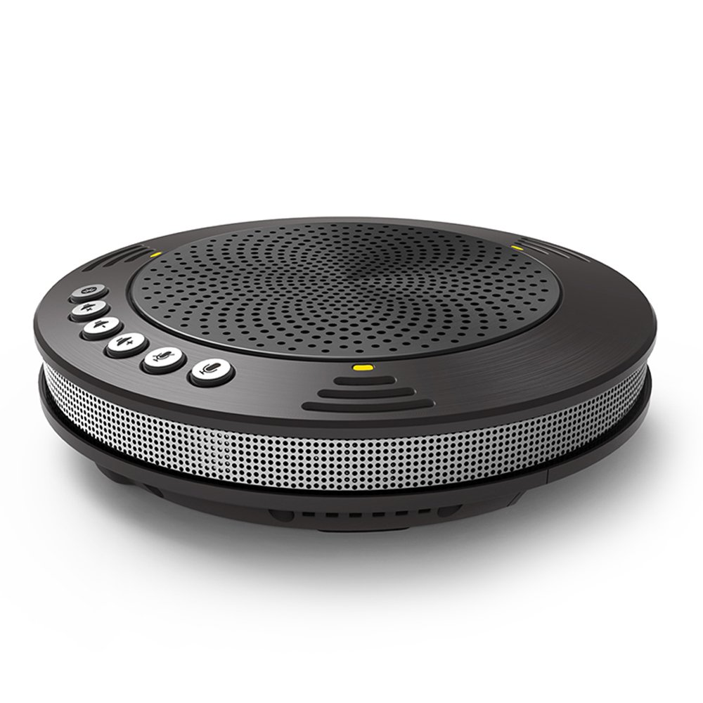 Meeteasy MVOICE1000-B Wireless Bluetooth USB Speakerphone with 3 Microphones for Web-conferencing and Skype Conference Calls Meeteasy Technology Limited